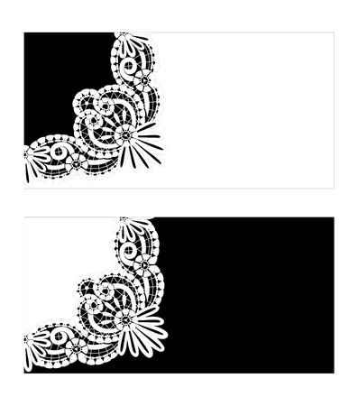 Icon with the elements of lace Illustration