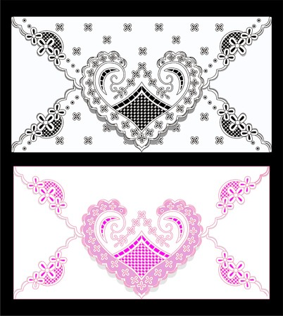 background the heart with patterns Illustration