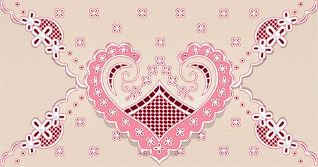 Love letter from the heart with patterns