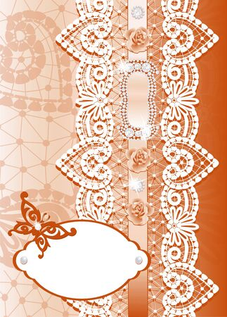 Festive background with lace Stock Photo