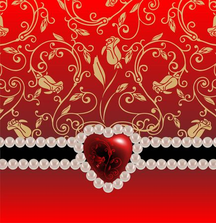 Festive background with heart photo