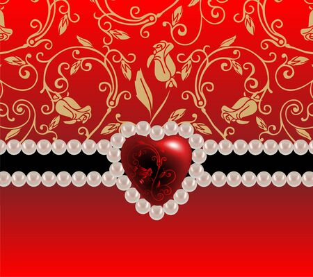 Festive background with heart
