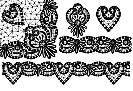 The icon of the elements of lace Stock Vector - 8548034