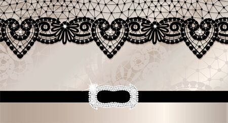 Background with lace and brooch photo