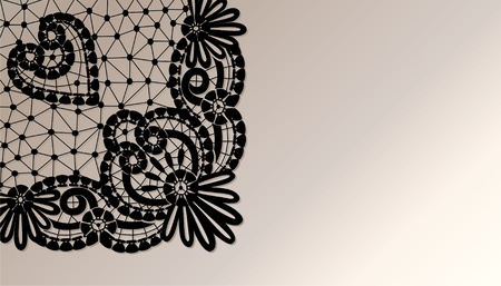 background with black lace Stock Photo