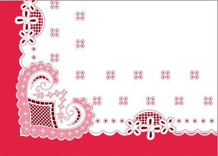 congratulatory background with a heart of lace