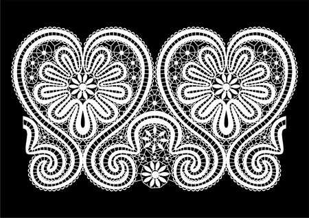 csipkék: lace elements