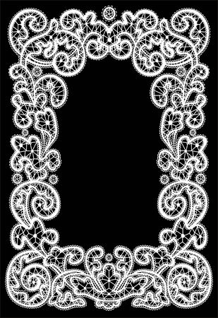 christmas frame of the winter pattern