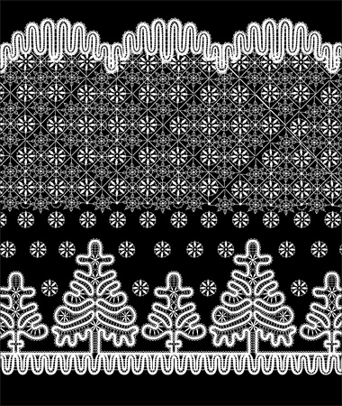Christmas frame of the winter pattern Vector
