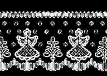 christmas ornaments with an angel Vector