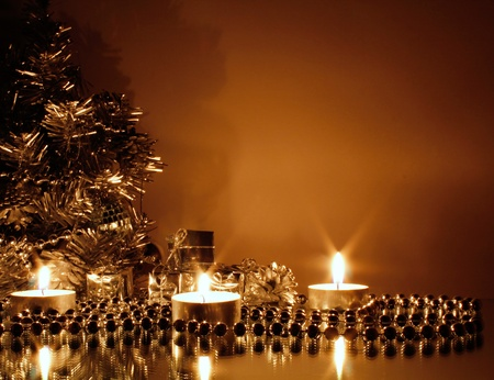 candle lights: Christmas background