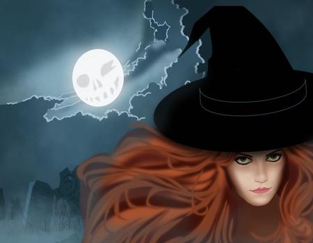 Illustration on Halloween Stock Photo