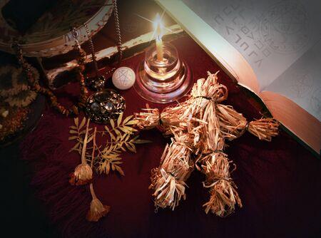 La imagen sobre el tema de la brujería Foto de archivo