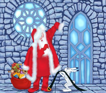 Santa Claus at the Ice House Stock Photo - 17337491