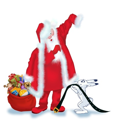 Santa Claus is preparing for the holiday