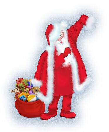 Santa Claus is preparing for the holiday Stock Photo - 17337484