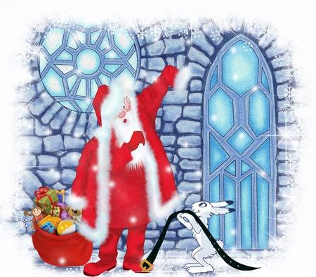 Santa Claus at the Ice House Stock Photo - 17337492