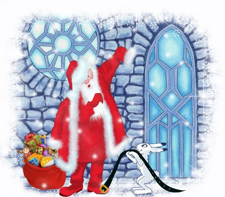 Santa Claus at the Ice House Stock Photo - 17337492