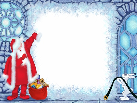 Santa Claus at the Ice House Stock Photo - 17337481