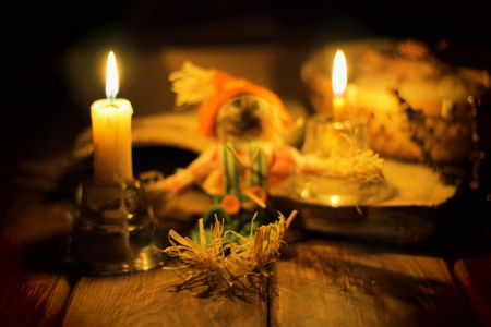 The image on the theme of witchcraft