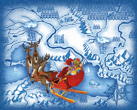 The route of Santa Claus photo