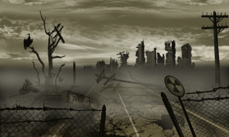 apocalypse: The illustration on the theme of the apocalypse Stock Photo