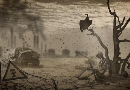 sacrificio: La ilustración en el tema de la guerra y el Apocalipsis