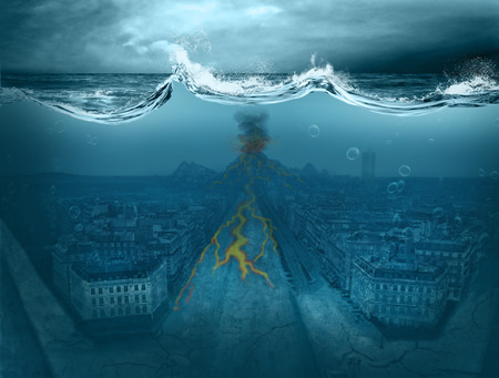 Apocalypse on the planet, flood