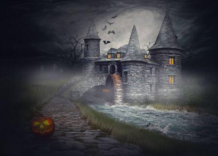 Die Abbildung auf dem Thema Halloween