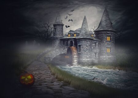 The illustration on the theme of Halloween