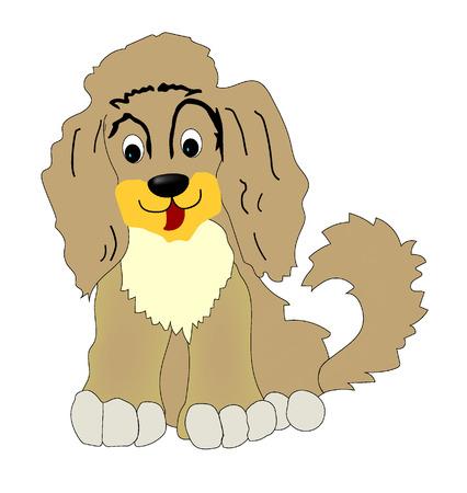 children's story: dog vector Illustration