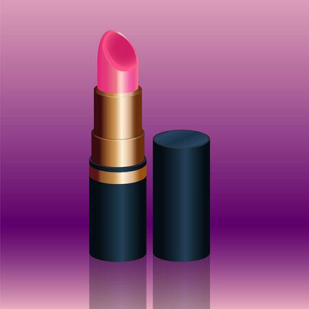 Luxury pink lipstick Stockfoto - 145433769