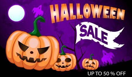 Halloween sale banners