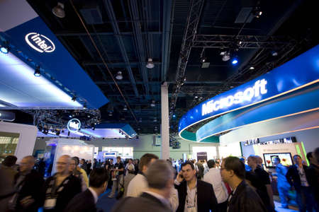 intel: LAS VEGAS - JAN 8, 2009: A very large crowd at the 2009 Consumer Electronic Show held in Las Vegas, Nevada, on January 8, 2009. Editorial