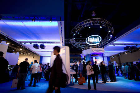 intel: LAS VEGAS - JANUARY 8, 2009: A large crowd at the 2009 Consumer Electronic Show held in Las Vegas, Nevada, on January 8, 2009. Editorial