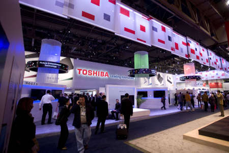 LAS VEGAS - JANUARY 8, 2009: A large crowd at the 2009 Consumer Electronic Show held in Las Vegas, Nevada, on January 8, 2009. Redakční