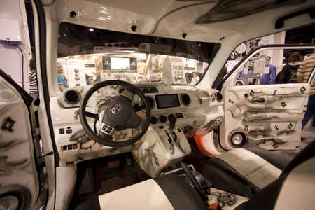 LAS VEGAS - JANUARY 8, 2009: An impressive custom car interior at the 2009 Consumer Electronic Show held in Las Vegas, Nevada, on January 8, 2009. Editorial