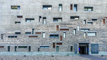 shu: facade of Ningbo Museum