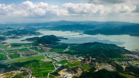 water view: Aerial view of Dongqian Lake resort, Ningbo