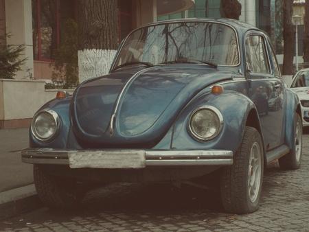shiny metal: Retro automobile german Stock Photo