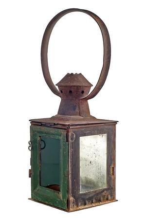 Old rusty railroad lantern Stock Photo - 25606848