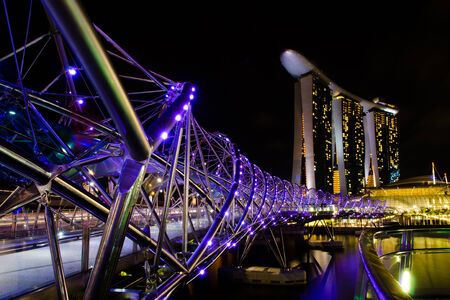 tawdry: Singapore City Night Skyline Editorial