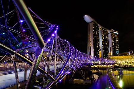 tawdry: Singapore City Night Skyline Editorial