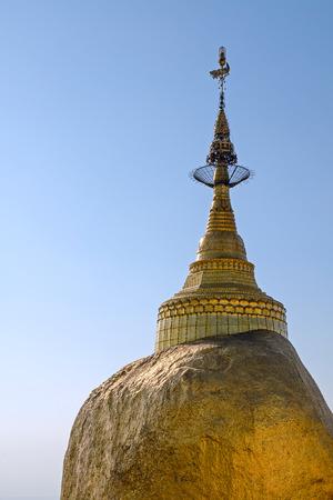 Kyaiktiya pagoda  Golden rock  Myanmar  photo