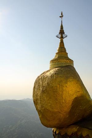 concretion: Kyaiktiya pagoda  Golden rock  Myanmar