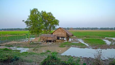Slum Myanmar Stock Photo