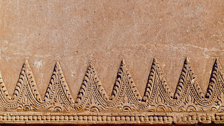 bass relief: Myazedi pagoda ornament  Bagan  Myanmar