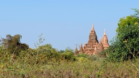 stupas: Stupas and pagodas of Bagan ancient  Myanmar