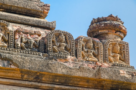 bass relief: Apeyadana Phayo ornament  Bagan  Myanmar