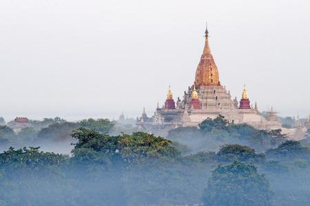 weald: Ananda Phaya in the mist  Bagan  Myanmar